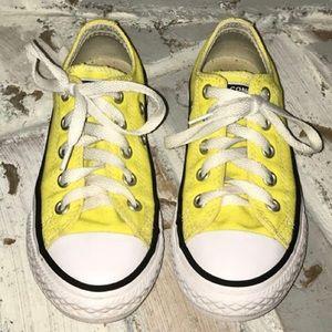 Girls Yellow Converse